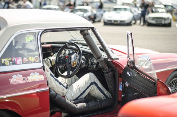 Waiting to Race an MGB