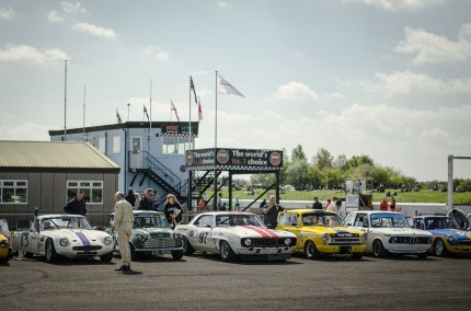 Classic Race Cars in Thruxton Assembly Area