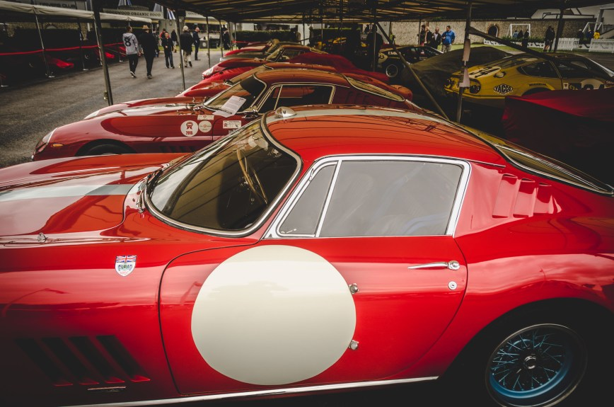 Ferrari Line Up Goodwood Festival of Speed 2017