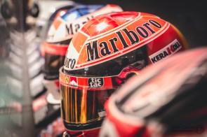 Modern Ferrari F1 Helmets