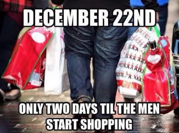 Dec 22 Men shopping