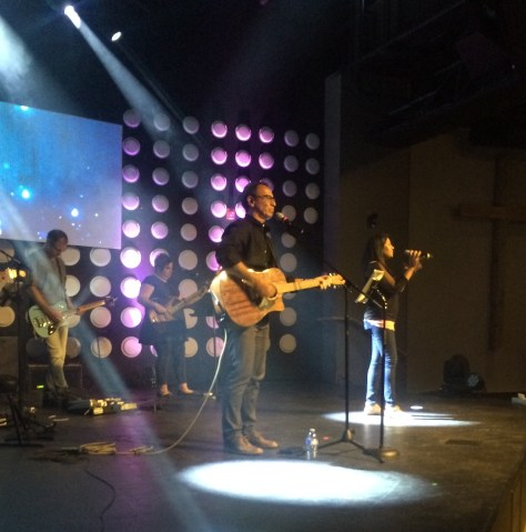 Leading worship at C3