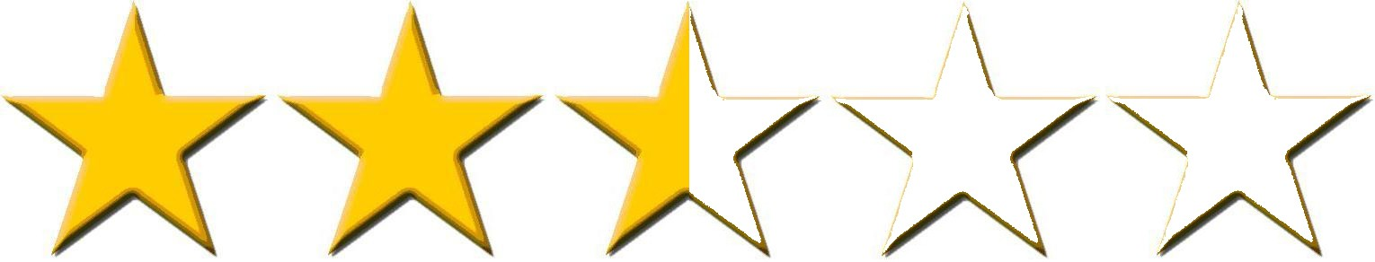 Image result for 2.5 stars out of 5