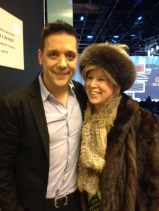 George Stroumboulopoulos after show photo with Elizabeth Dobis
