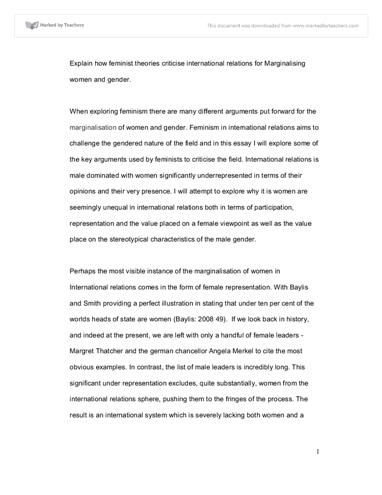 International Relations Essay On International Relations History