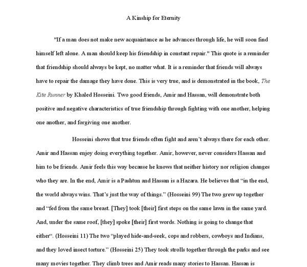 Torture Essay The Theme Of Friendship In The Kite Runner A Level