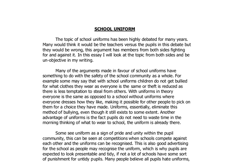 school uniforms debate essay co school uniforms debate essay