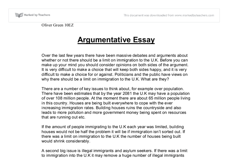 Factual Essay Sample Argumentative Essay Thesis Examples High School