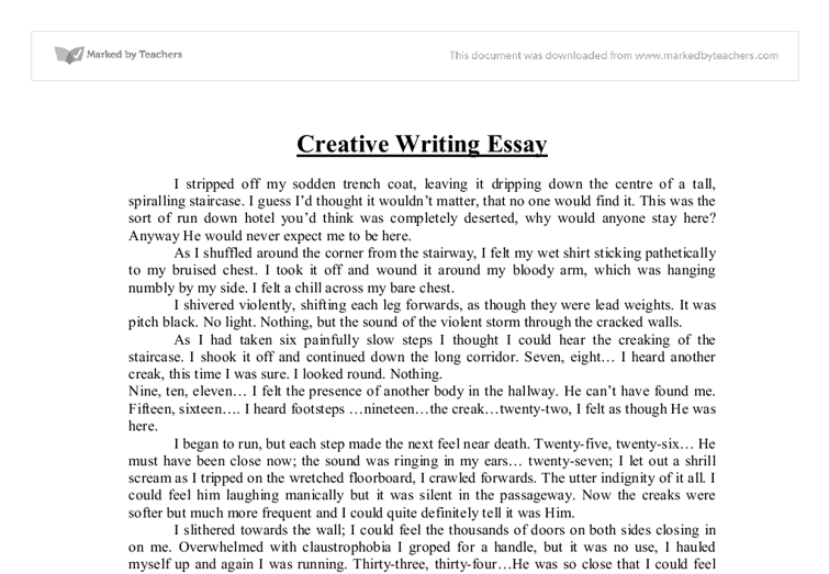 creative writing essay layout
