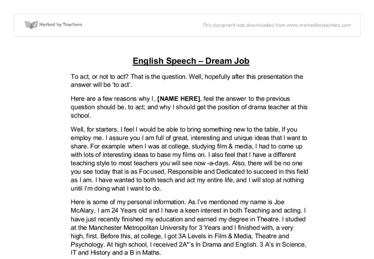 Dream Act Essay I Have A Dream Essay Examples Have Dream Oral Dream