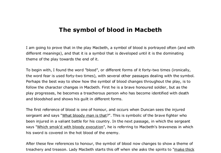 imagery in macbeth essay