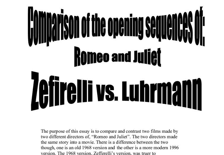 Compare and contrast two films made by two different