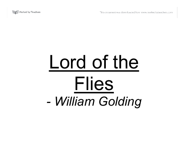 What does William Golding have to say about the nature of