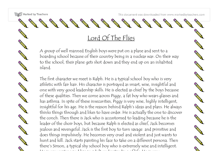 Lord of the flies conch essay