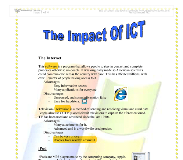 The impact of ict on tertiary