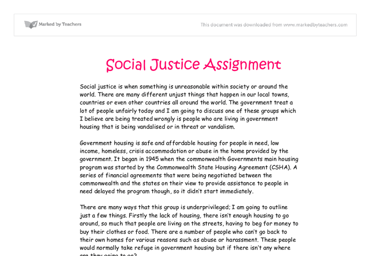 Social Justice Essay Social Justice Essay Gcse Sociology Marked By