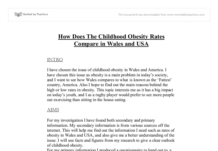 Children Obesity Essay Childhood Obesity International Baccalaureate