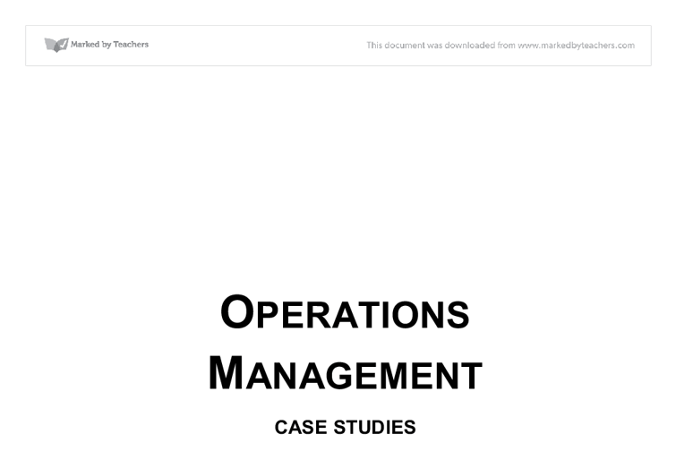 Southwestern university case study operations management