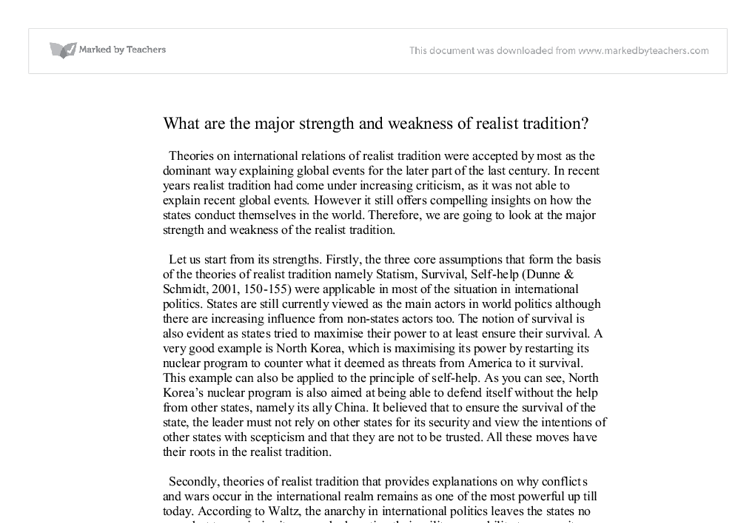 Academic strengths and weaknesses essay