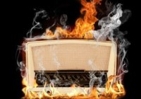 1960s radio on fire