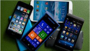 big pile of smartphones