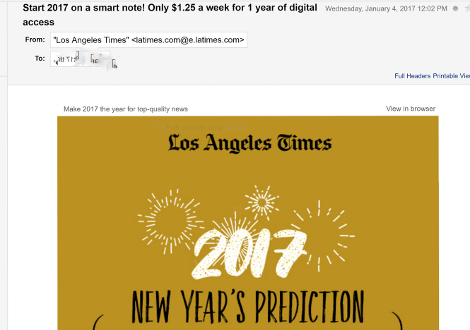 LA Times email