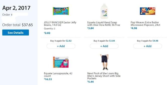 Walmart.com order