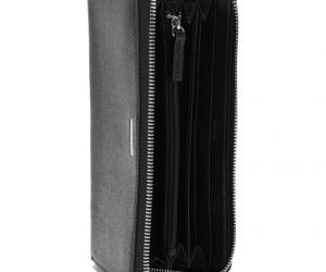 BOSS Signature S Reise-Börse aus Palmellato-Leder mit Reißverschluss 21 cm – black/NOS