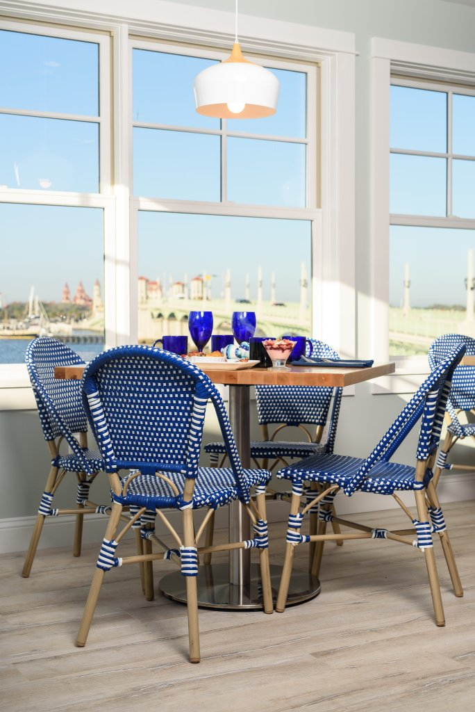 breakfast table with bay view