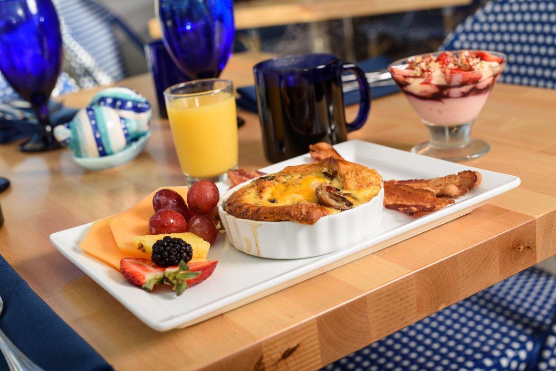 Breakfast option in Captain Table
