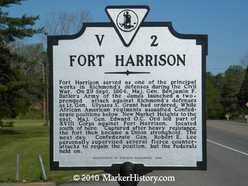 Image result for Confederate Fort Harrison