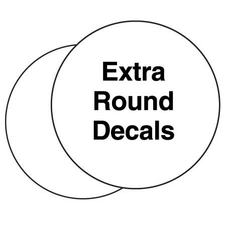 Extra Decals for Round Tee Markers (flat)