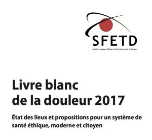 Détail de la couverture du Livre blanc de la douleur 2017.