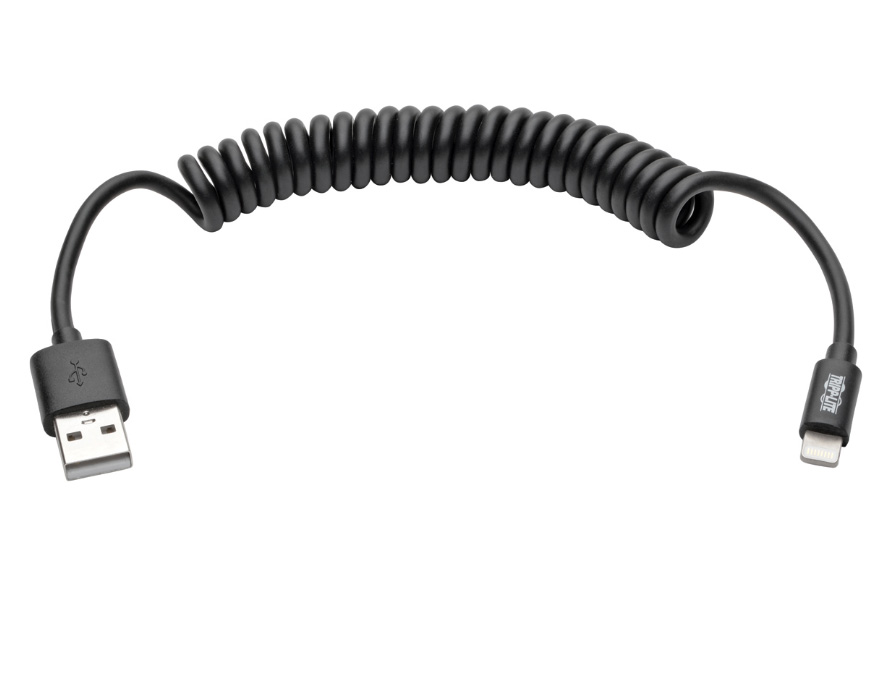 Tripp Lite M100-004COIL-BK USB Sync/Charge Coiled Cable
