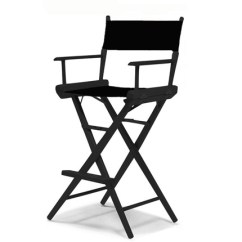 Tall Director Chair Power Wheelchair Charger Permobil Directors Black Frame Canvas Tcl 1 Bk 5c Jpg