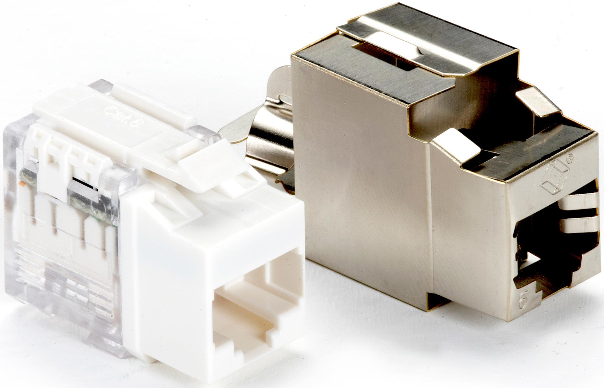 hight resolution of  cat6 keystone jack shielded universal wiring zoom