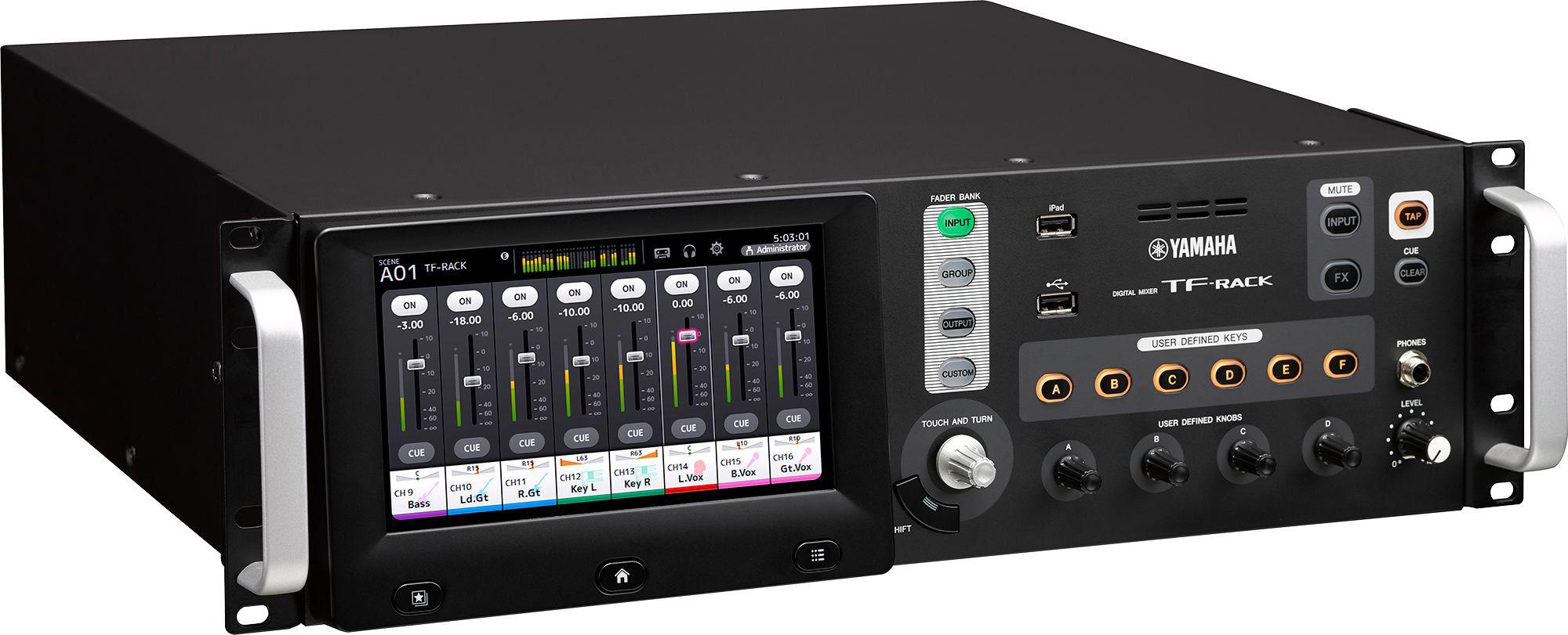 yamaha tf rack rack mount tf digital audio mixer