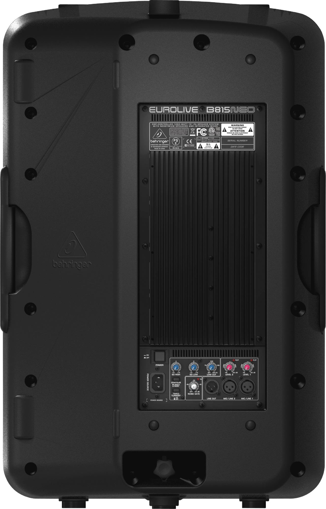 Mixer Behringer Active Speakers Wiring Diagram