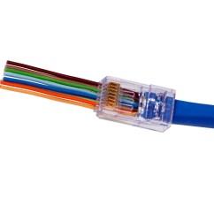 Rj45 Cable Wiring T568b Straight Through Ford Focus Diagram 2002 Platinum Tools 105024 Ezex Ezex44 10g Connectors