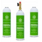 Zestaw 3x Izobutan gaz R600A zawór 1/4