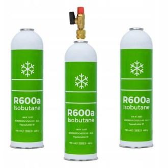 3 butle Izobutan R600A zawór
