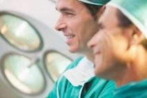 Two surgeons smiling