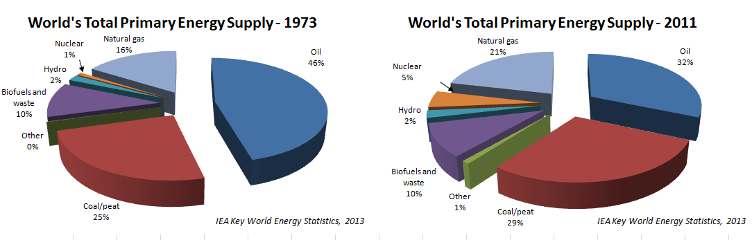 World total primary energy supply