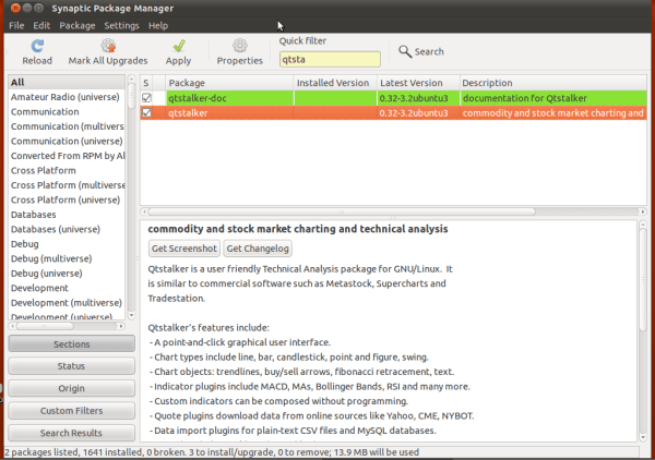 QTStalker – Open Source Trading software for Ubuntu 11 10