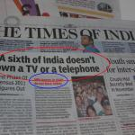 Hindu Vs Times of India – Decide which news you want to know?