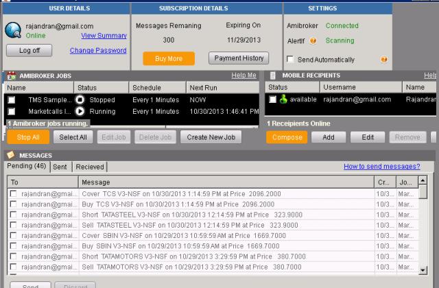 Alert Signals Desktop client