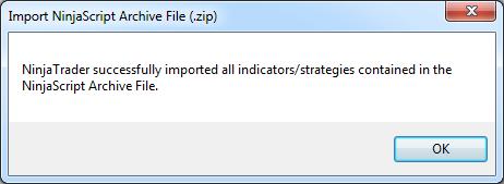 Import Ninja Success Message