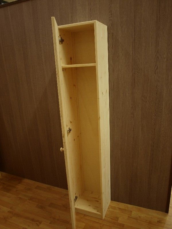 Market del Legno Mobile porta scope 33X30 H 180 abete 18mm con anta singola
