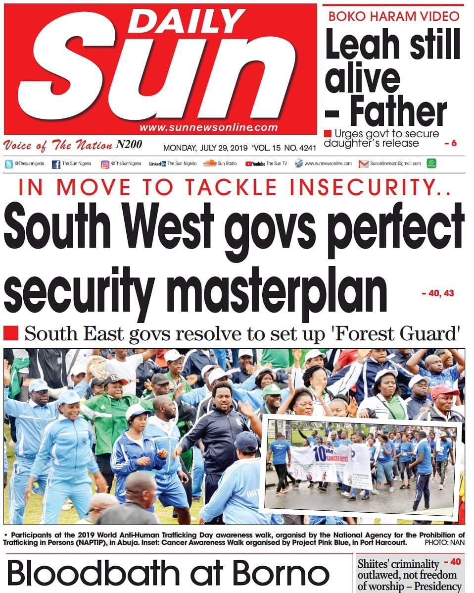 Nigerian Newspapers - Read all top news today in Nigeria