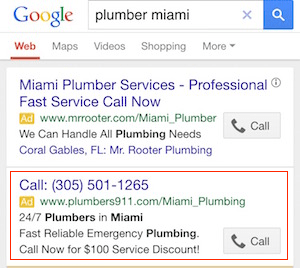 Call extension vs. Call-only ad